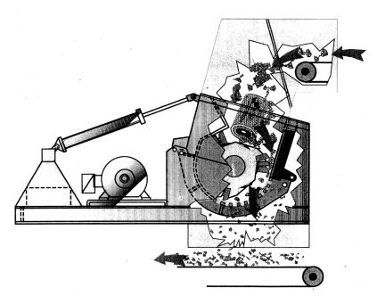 Схема дробилки Saalasti 0912