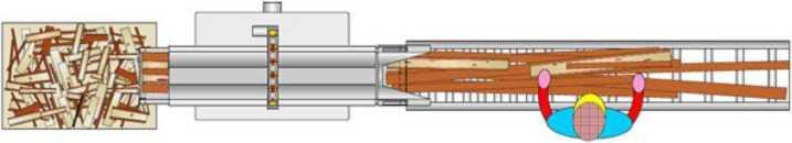 Торцовочный станок для переработки горбыля и отходов TRV 1200L 550