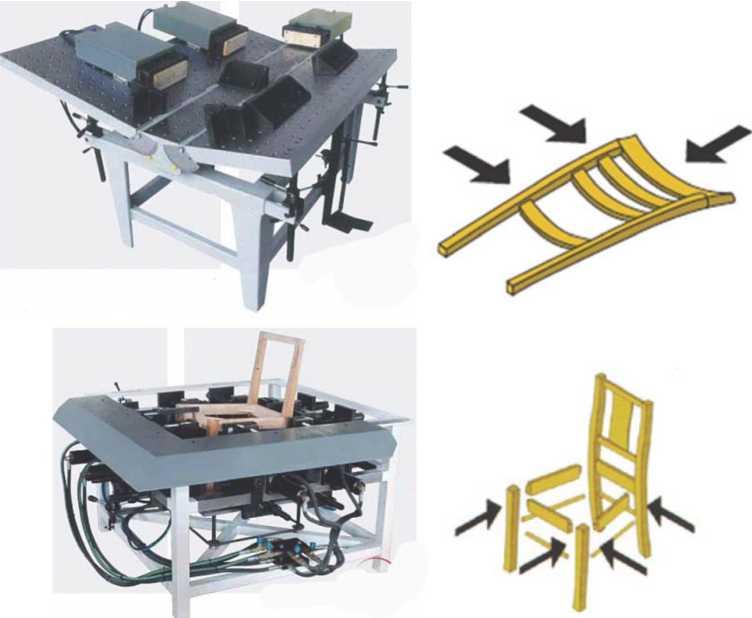 Ваймы для сборки стульев QUADRO YC-3R и QUADRO YRC 4+2