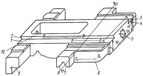 Каретка суппорта токарно-винторезного станка модели 1К62