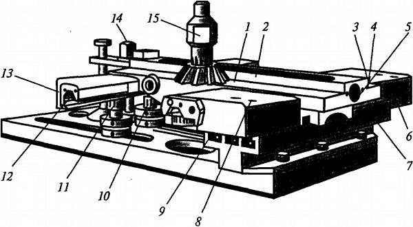 Приспособление для ремонта направляющих кареток суппортов с установленной кареткой